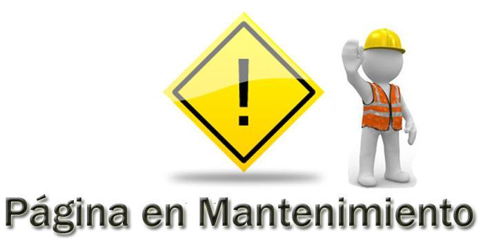 imagen de web en mantenimiento
